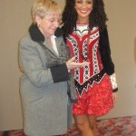 My teacher Bella and I after receiving a recall medal at the 2010 World Irish Dancing Championships in Glasgow, Scotland
