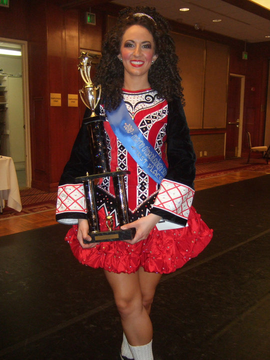 Winning a local feis, July 2010.